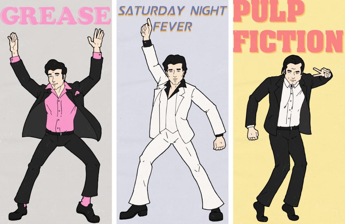 John Travolta Grease Dancing